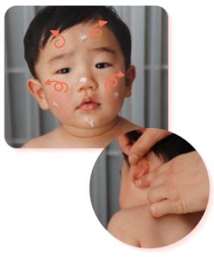 子どもの塗り方 顔・頭